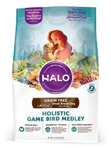 Halo Holistic Game Bird Medley Grain-Free Small Breed Dry Dog Food